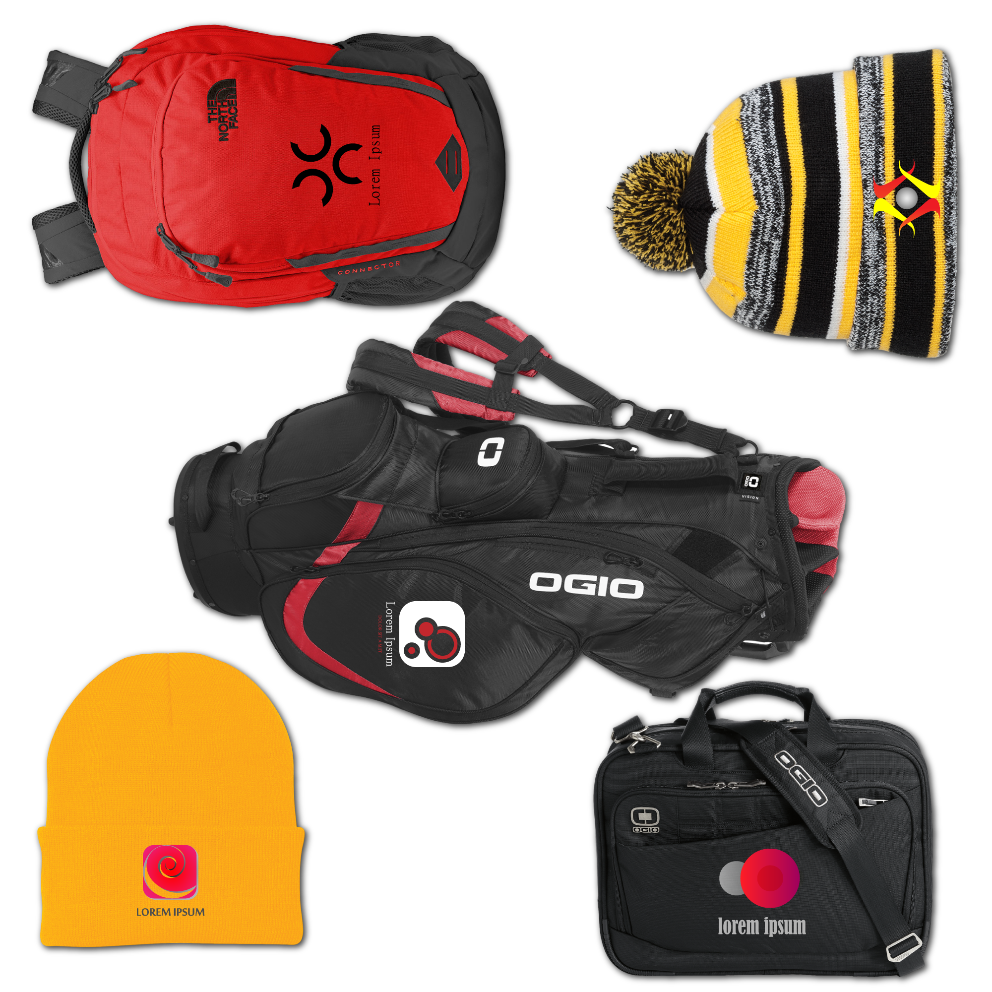 Bags and headware