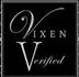 The Venue Vixens logo in black and white