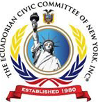Logo of the Ecuadorian Civic Committee of New York.