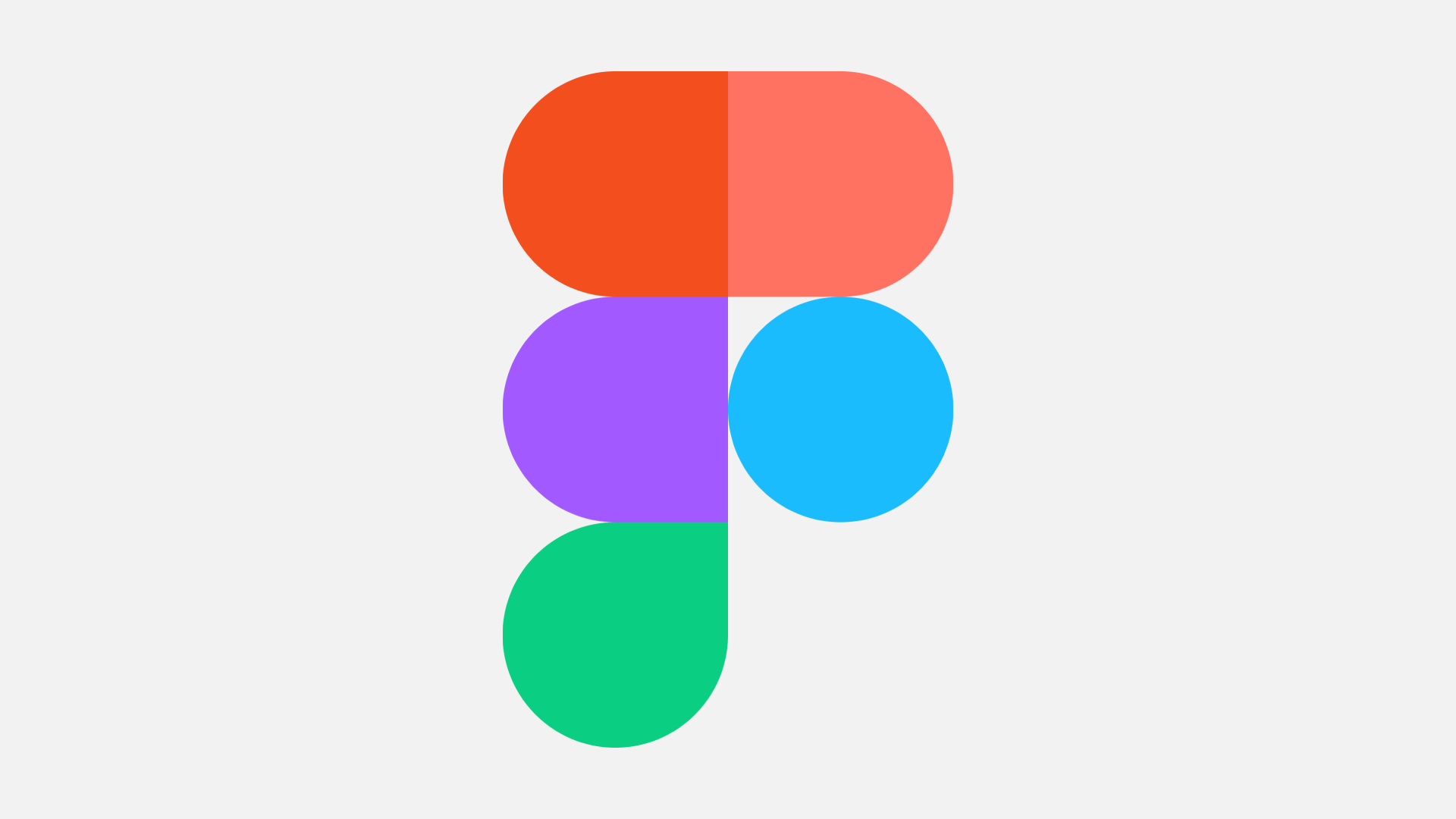 The Figma logo, five circles arranged to resemble the letter F, sitting against a grey background.