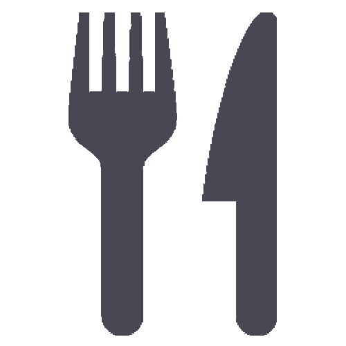 A fork and knife icon