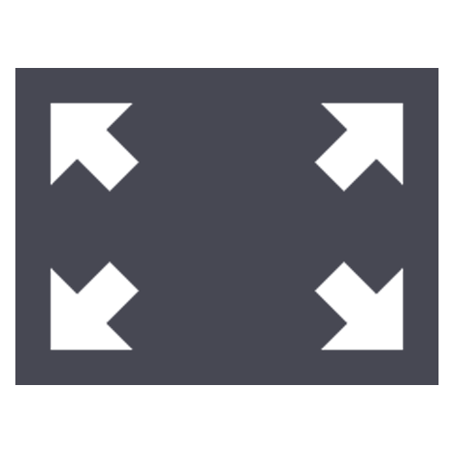 An icon of a square indicating open space.