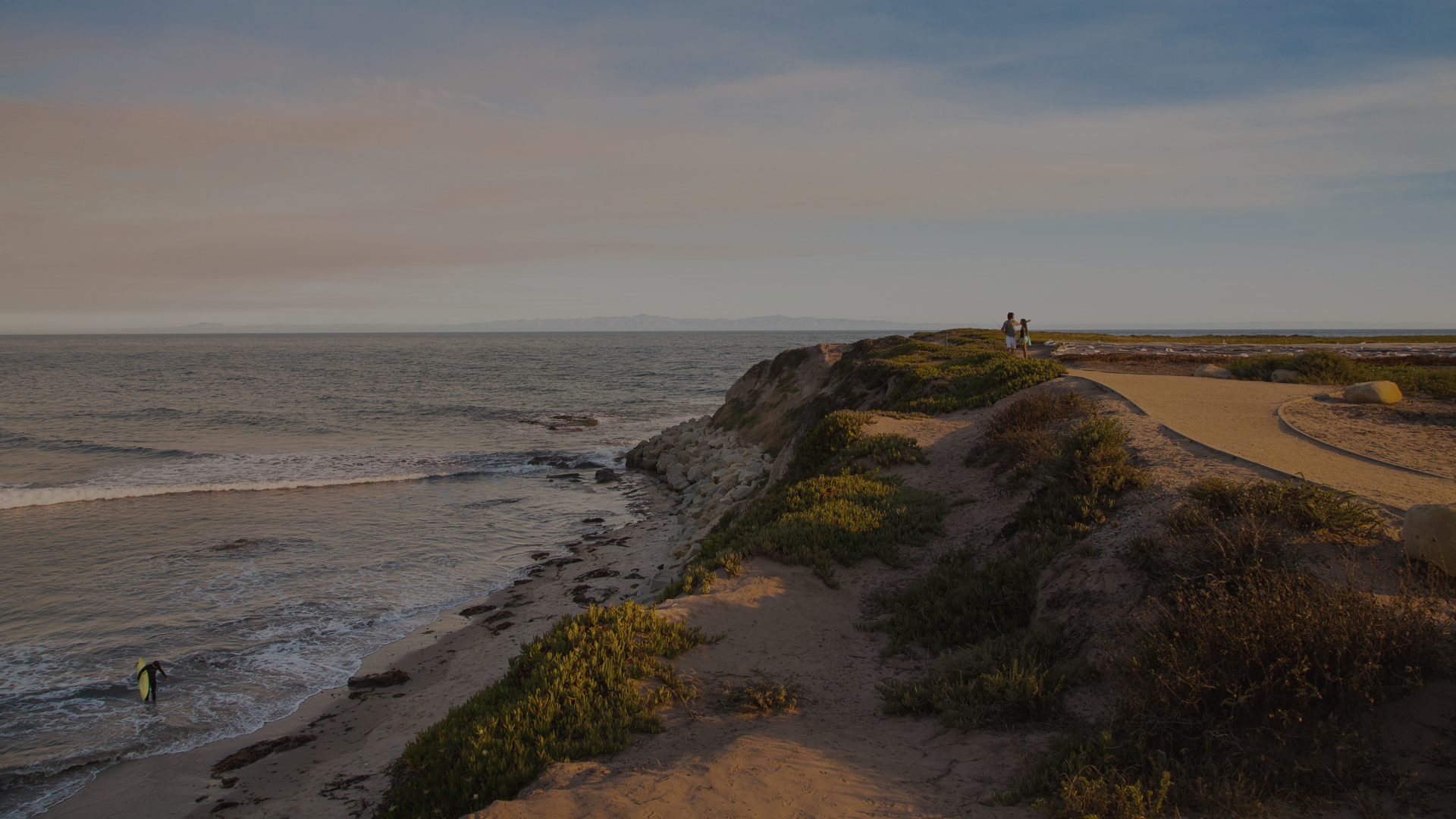Decorative photograph of UCSB's campus point