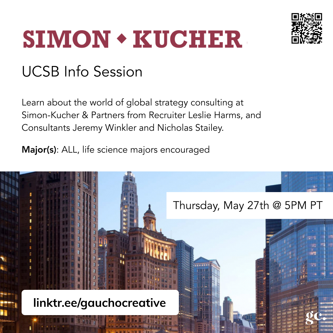 An instagram post detailing Gaucho Creative's event with Simon Kucher, a global consulting firm. The event happened on Thursday, May 27th.
