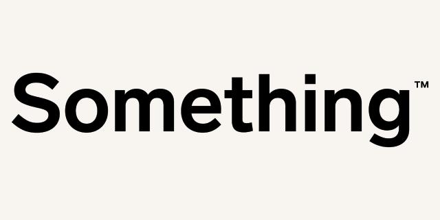 Logo for our sponsor: Something
