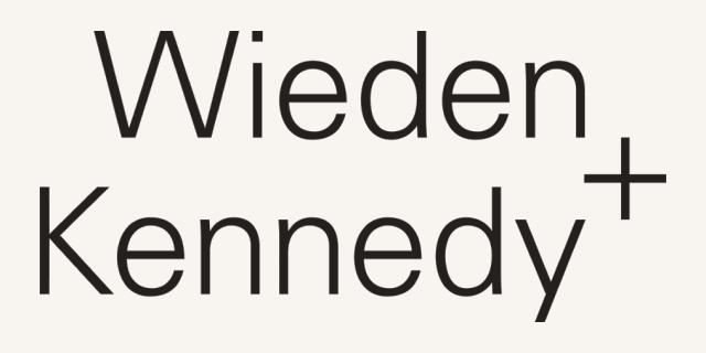 Logo for our sponsor: Wieden + Kennedy