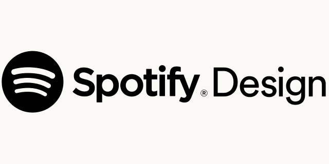 Logo for our sponsor: Spotify Design