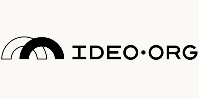 Logo for our sponsor: Ideo.org