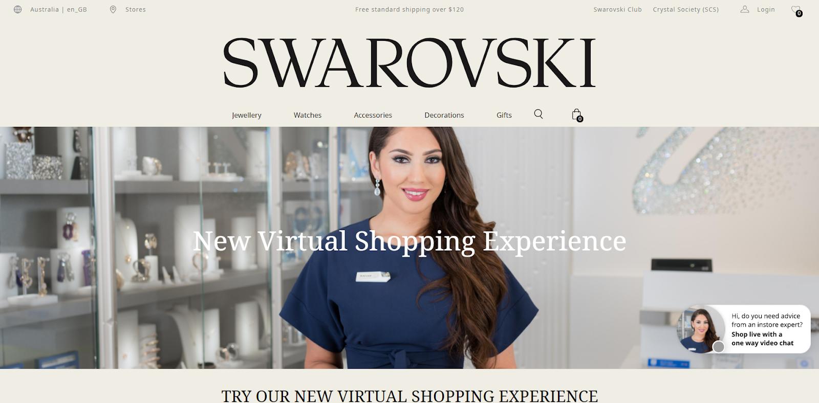swarovski live video shopping