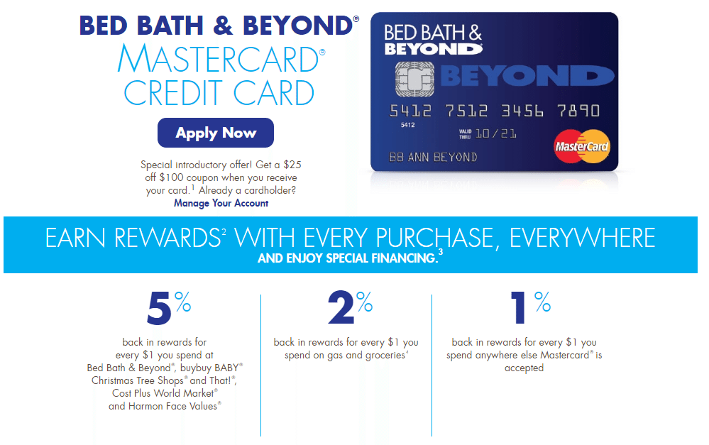 The Bed Bath & Beyond rewards program is based on tiers