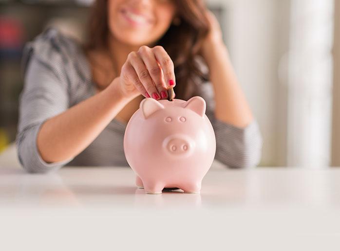 set saving goals to overcome impulse buying