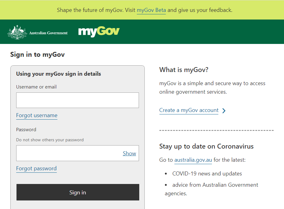 what is mygov and how to sign in to my.gov.au to apply for jobseeker or jobkeeper