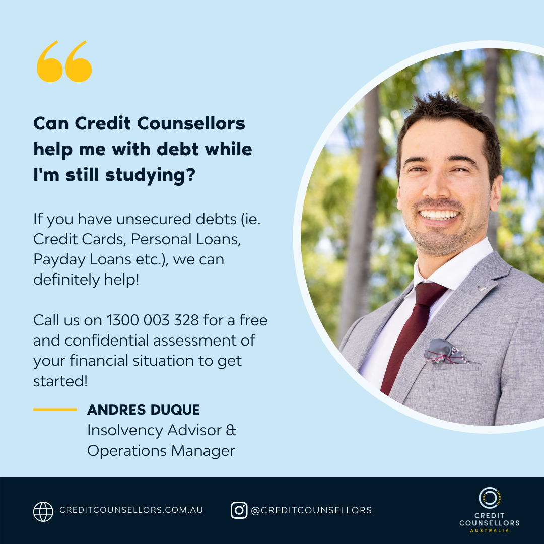 Andres Duque from Credit Counsellors can help students with credit card debt