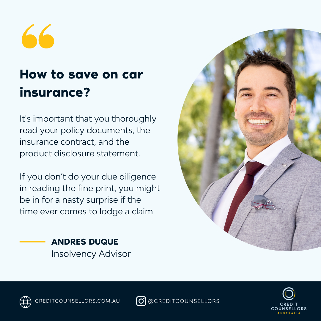 Andres Duque Insolvency Advisor Explains How To Save On Car Insurance