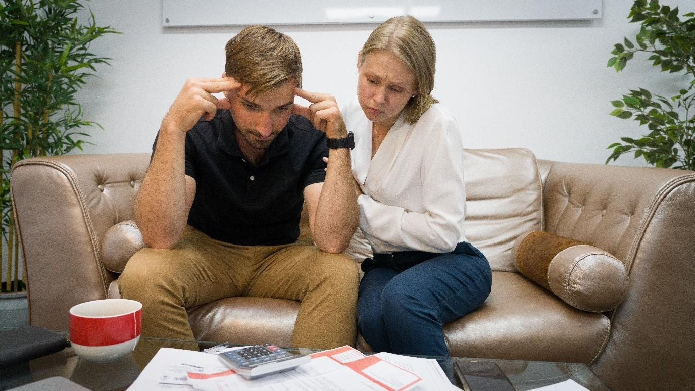 Couple Struggling with Money and Finances