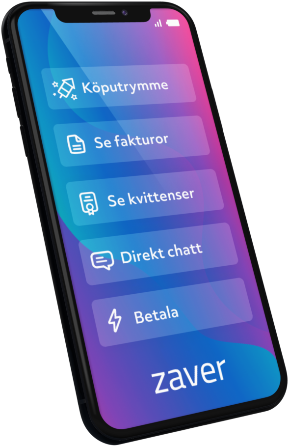 A mobile phone that shows various features in the Zaver app.