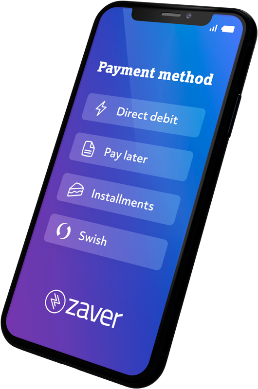 Mobile image showing Zaver Payment methods