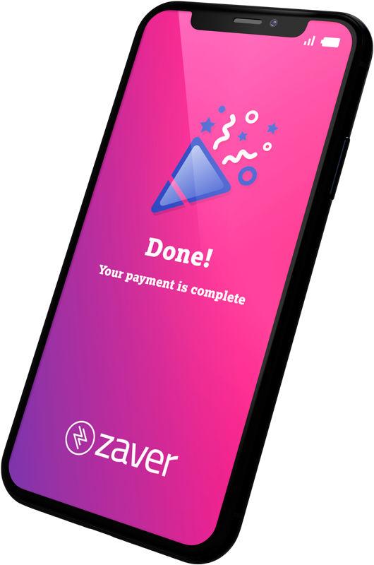 Mobile image showing Zaver finished payment