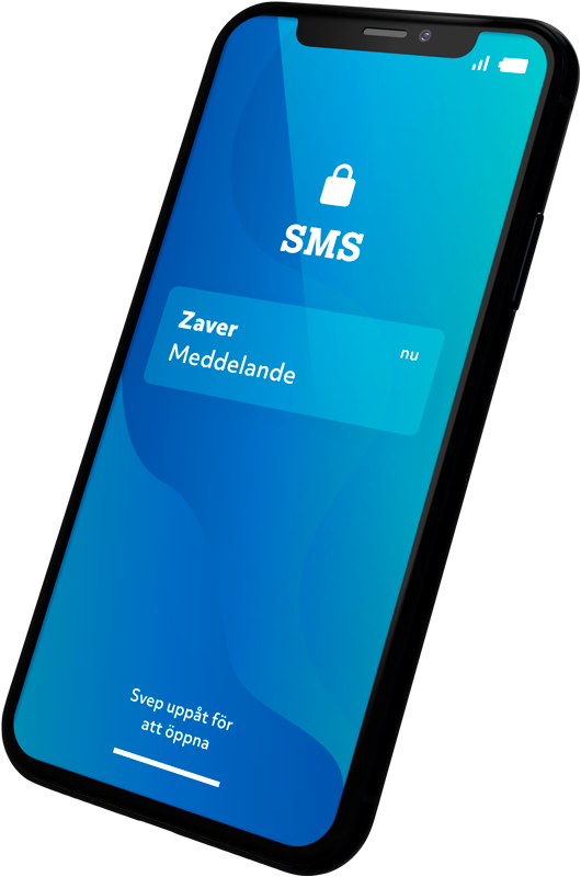 Mobile image showing Zaver Paylink SMS