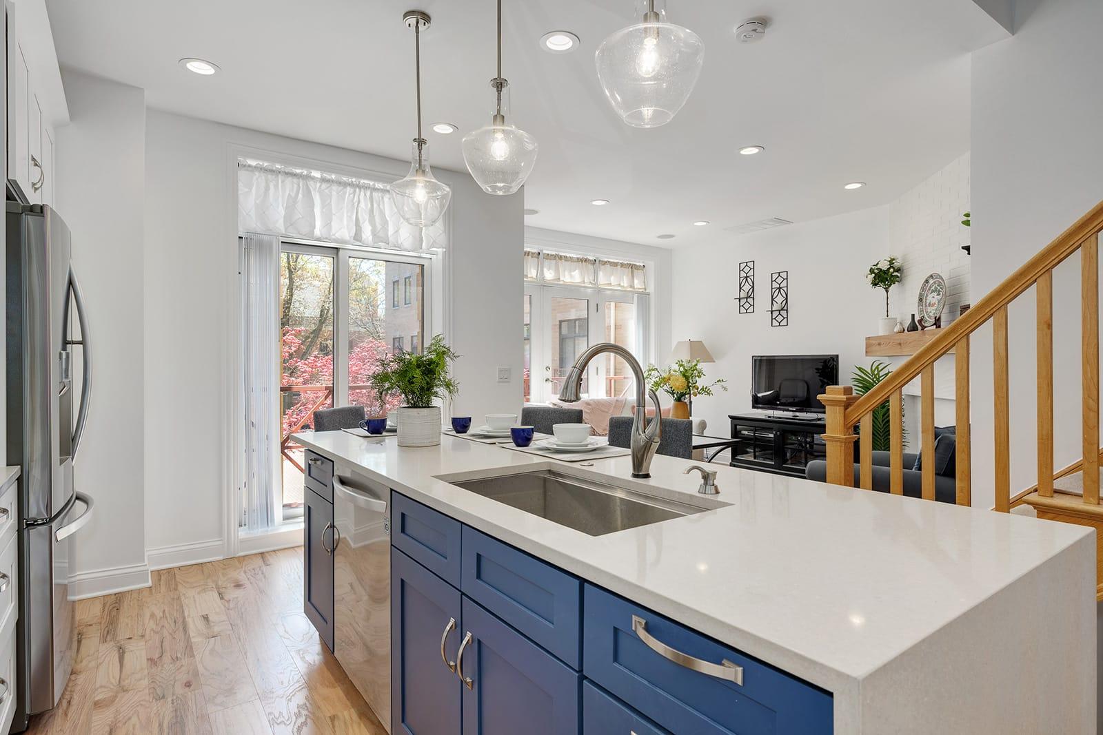 Lake View Kitchen, Bathroom & Fireplace Remodel