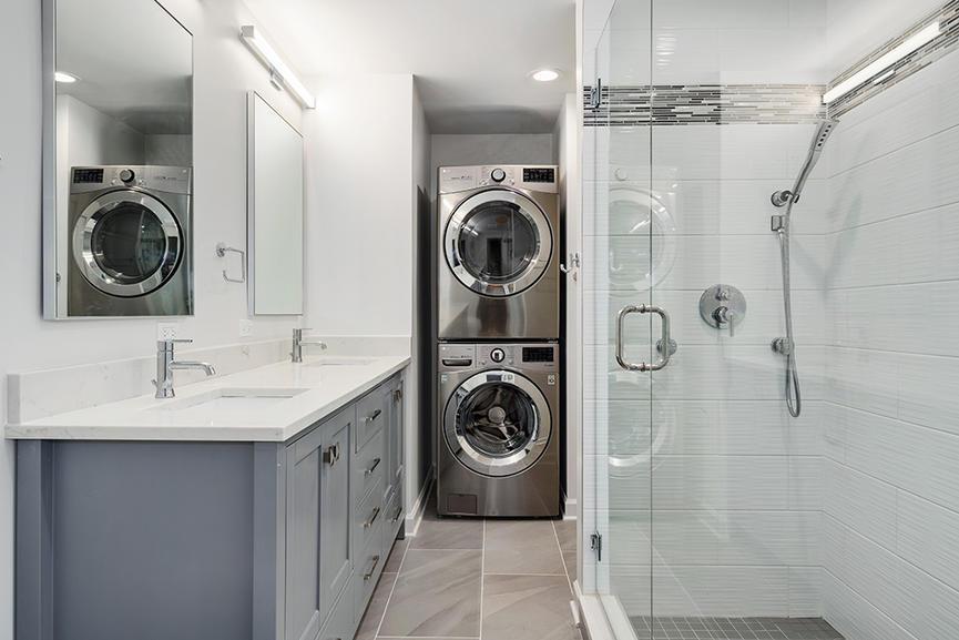West Loop Bathroom Remodel & Laundry Addition