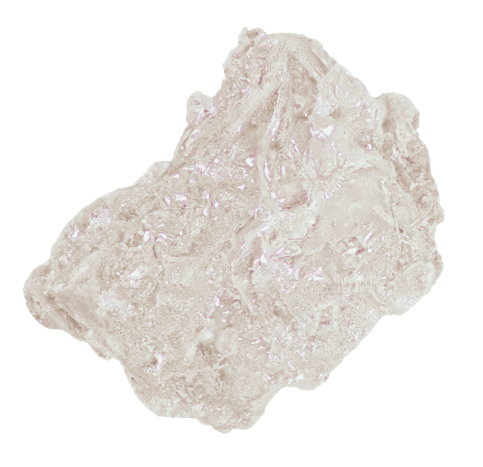 Large salt grain to show texture.