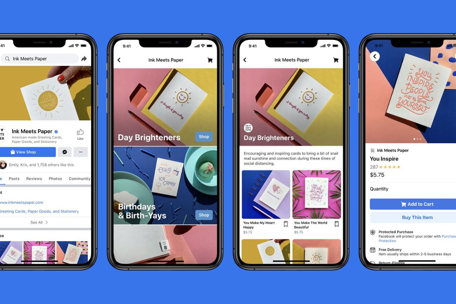 Small businesses can set up an in-profile storefront on Facebook and Instagram