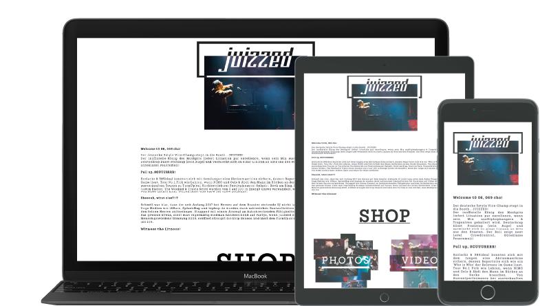 Laptop Tablet Smartphone mit geöffneter Webseite