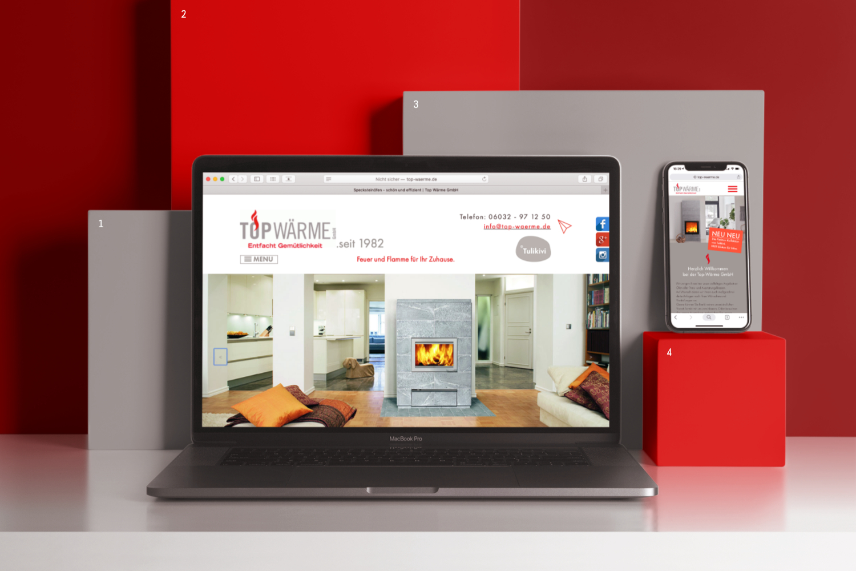 Top Wärme GmbH Webdesign auf Laptop und Smartphone zu sehen