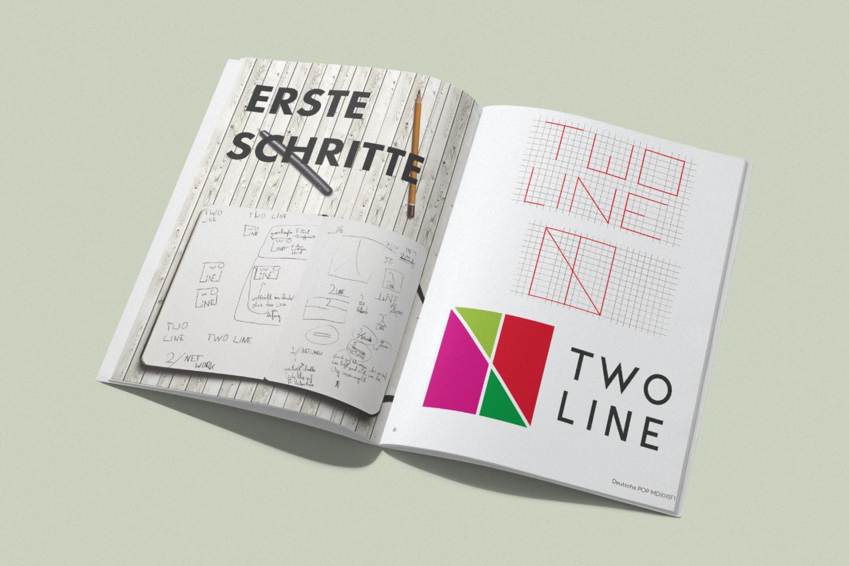 Magazin aufgeschlagen mit neuem Editorial Design