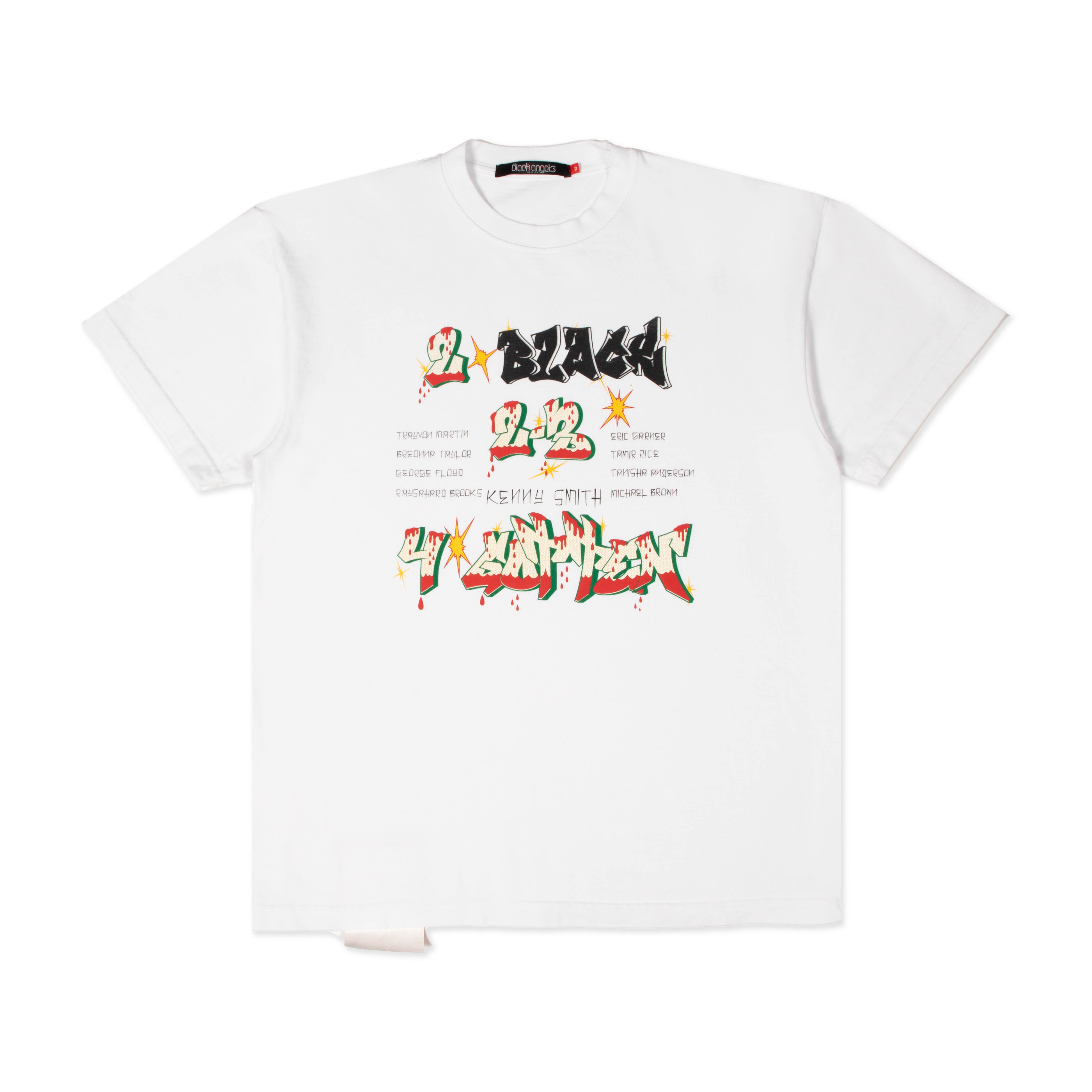 Oversized heavyweight tee. 100% cotton, 11.5 OZ Color: Optic White Cut/Sewn and printed in Los Angeles Tear away tyvek luggage label Red accent puff print All items are in stock. Please allow 1-2 business days for processing and 3-5 business days for shipping domestically in the US, 7-10 business days internationally.