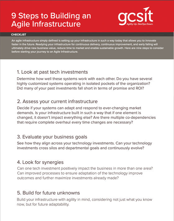 9 Steps to an Agile Infrastructure