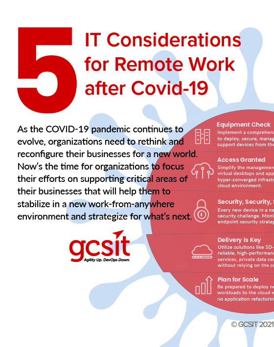 5 IT Considerations for Remote Work after COVID-19