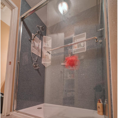 Onyx is a solid surface based product that was specifically designed for the bathroom area.