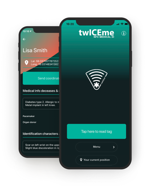 twICEme app on phone