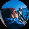 Professional ski guide Jule