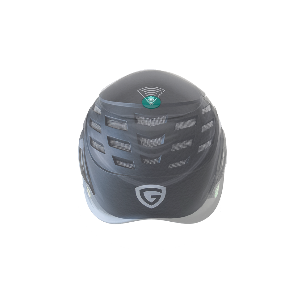 An xray image of a helmet with a twICEme integration