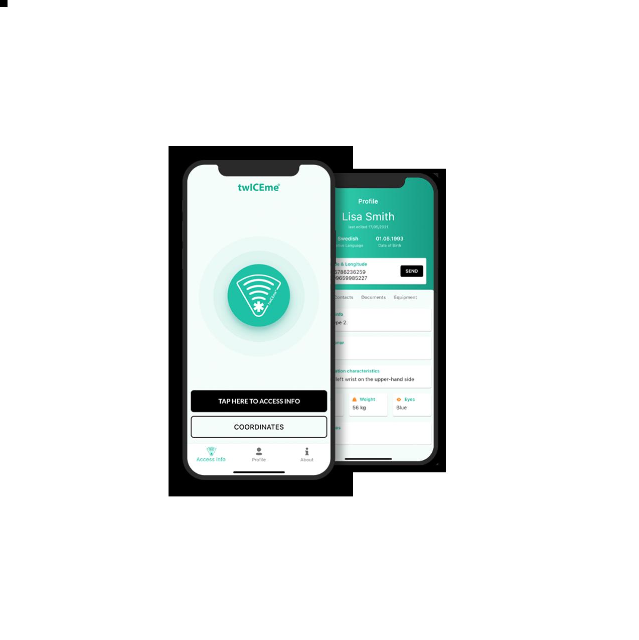 Phones with the twICEme app