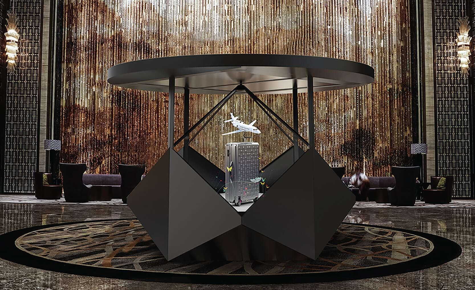De Dreamoc Diamond is de perfecte oplossing voor holografische presentaties op beurzen, bedrijfsevenementen en in experience rooms.