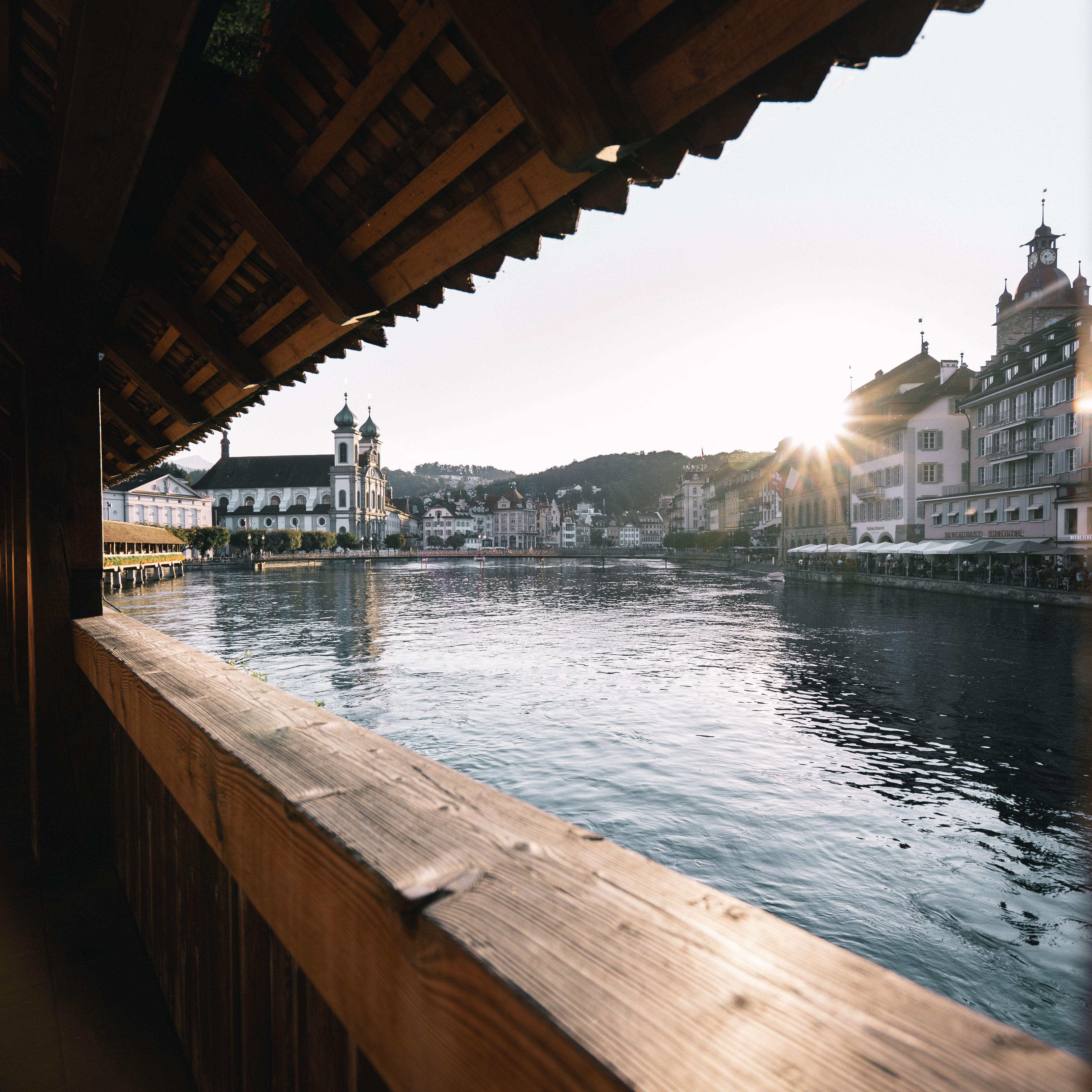 Sonnenuntergang auf der Kappelbrücke