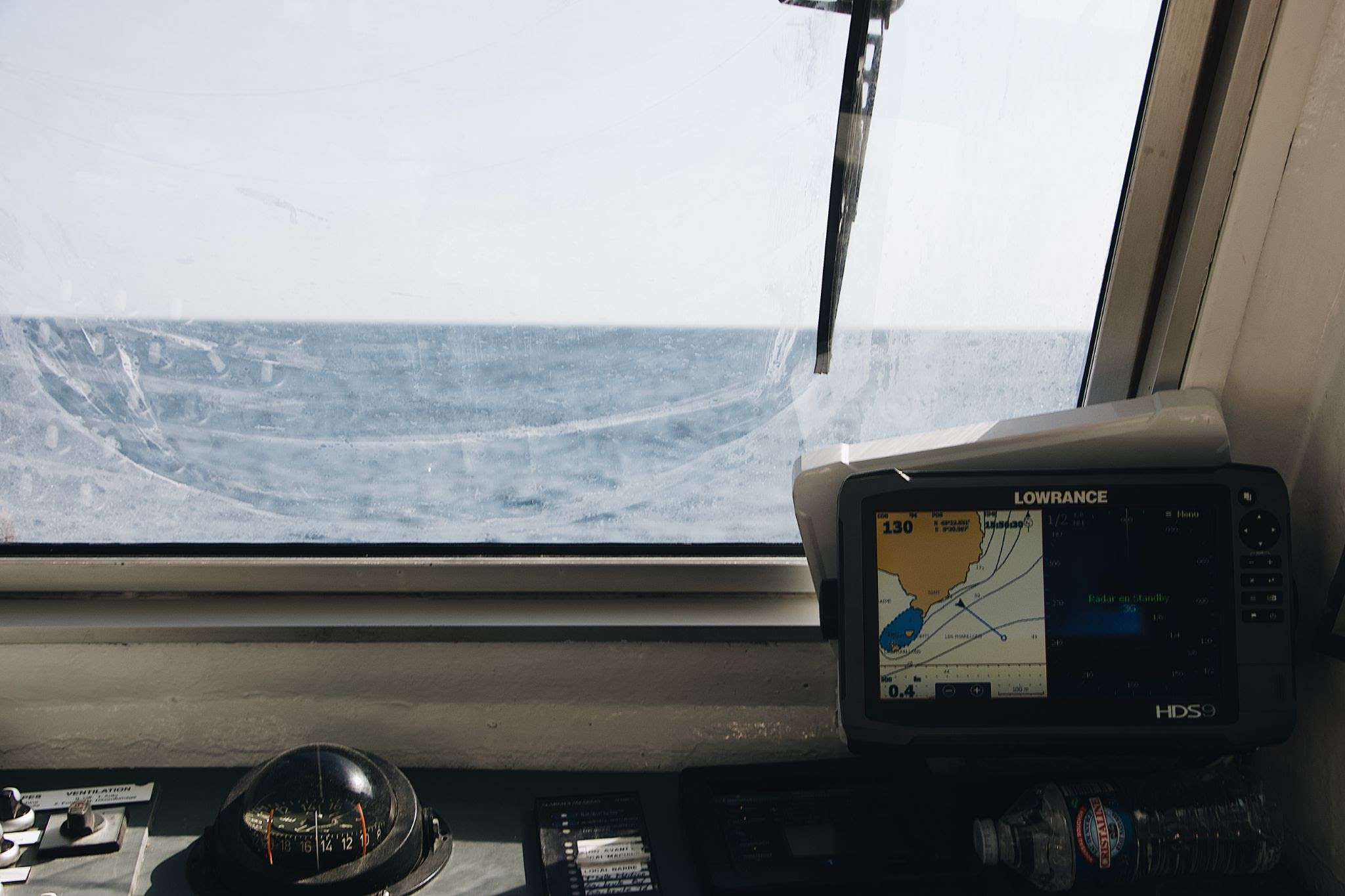 compass and chart course to steer