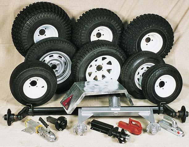 Wheels, Axles, Winches Etc
