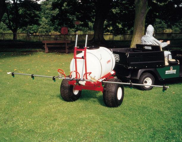 Trailed ATV Sprayer TS400 in use