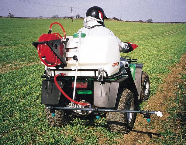 ATV On Board Sprayer 130 litre (OBS130) in use on farm