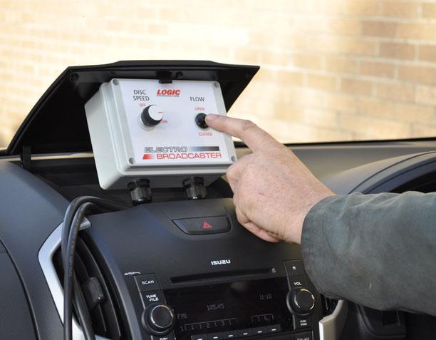 12v De-Icing UTV - Pickup - 4X4 Spreader control box in cab