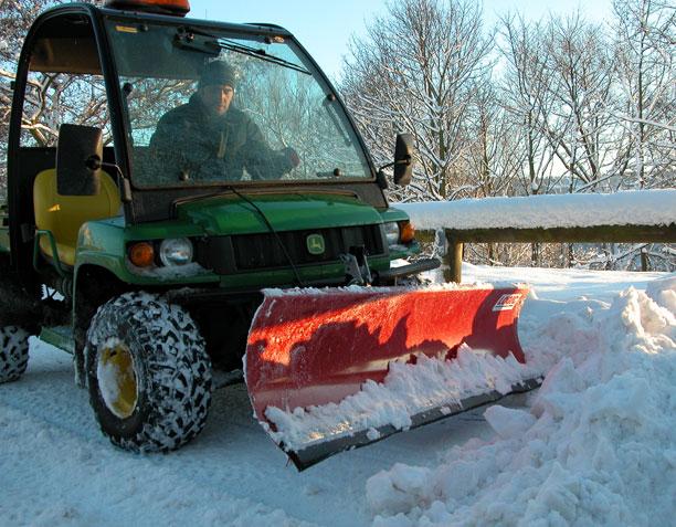 UTV Snow Plough UTS201 at work