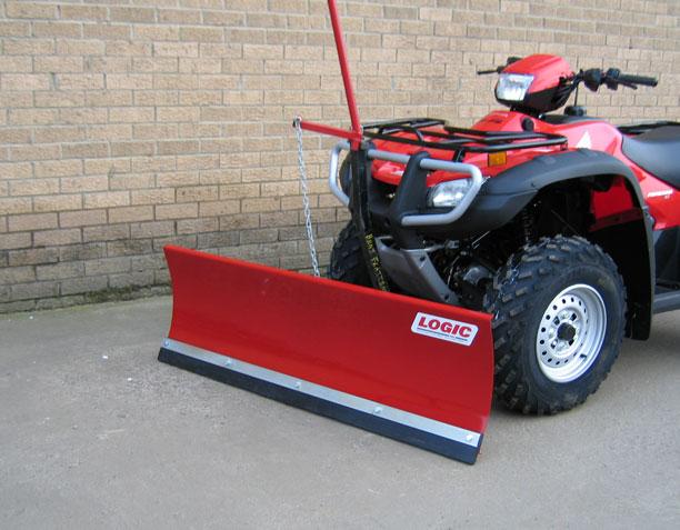 Logic ATV Snow Plough S221 on atv at factory