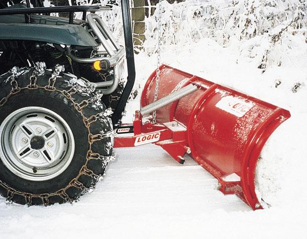 Logic ATV Snow Plough S228 in action