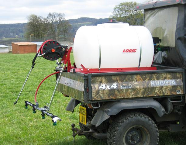 Deck Mounted Sprayer (DMS390) on utv
