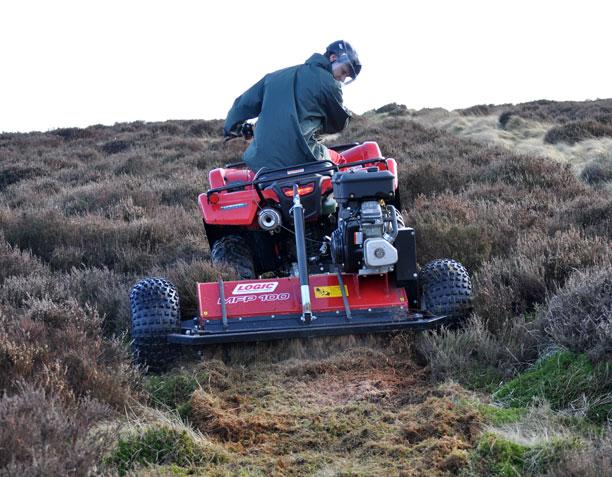 UTV ATV Flail Mower/Topper MFP on a farm